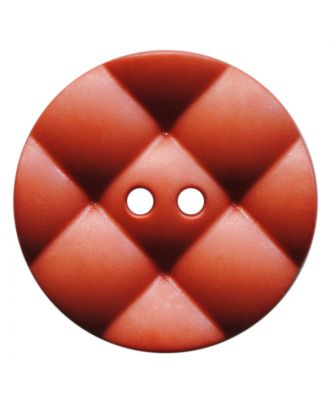 polyamide button round with pillow-shaped surface and 2 holes - Size: 23mm - Color: terrakotta - Art.No.: 347838