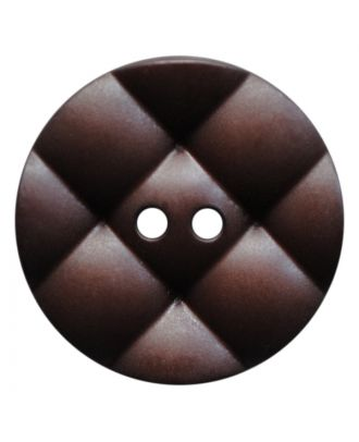 polyamide button round with pillow-shaped surface and 2 holes - Size: 23mm - Color: dunkelbraun - Art.No.: 347839