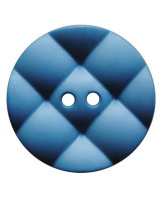 polyamide button round with pillow-shaped surface and 2 holes - Size: 23mm - Color: rauchblau - Art.No.: 347840
