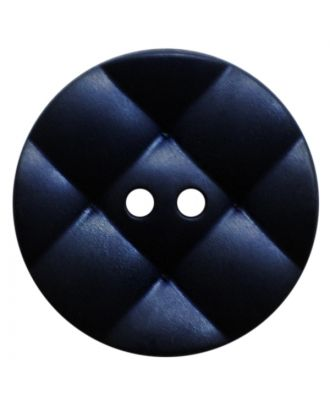 polyamide button round with pillow-shaped surface and 2 holes - Size: 23mm - Color: dunkelblau - Art.No.: 347841