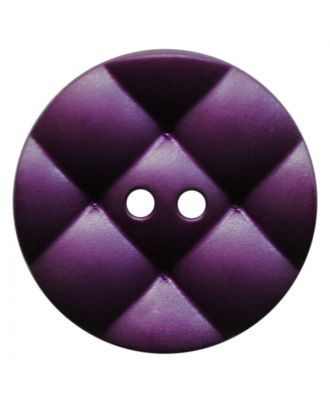 polyamide button round with pillow-shaped surface and 2 holes - Size: 23mm - Color: lila - Art.No.: 347842