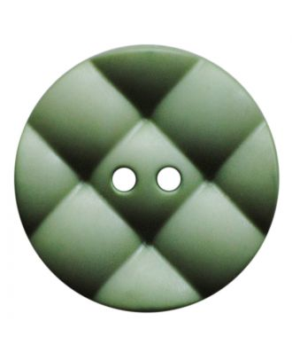 polyamide button round with pillow-shaped surface and 2 holes - Size: 23mm - Color: hellgrün - Art.No.: 347843