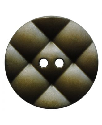 polyamide button round with pillow-shaped surface and 2 holes - Size: 23mm - Color: khaki - Art.No.: 347844