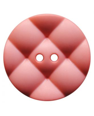 polyamide button round with pillow-shaped surface and 2 holes - Size: 28mm - Color: rosa - Art.No.: 377821
