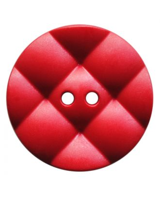 polyamide button round with pillow-shaped surface and 2 holes - Size: 23mm - Color: rot - Art.No.: 347846