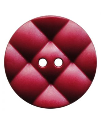 polyamide button round with pillow-shaped surface and 2 holes - Size: 23mm - Color: weinrot - Art.No.: 347847