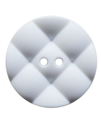 polyamide button round with pillow-shaped surface and 2 holes - Size: 23mm - Color: weiß - Art.No.: 341392