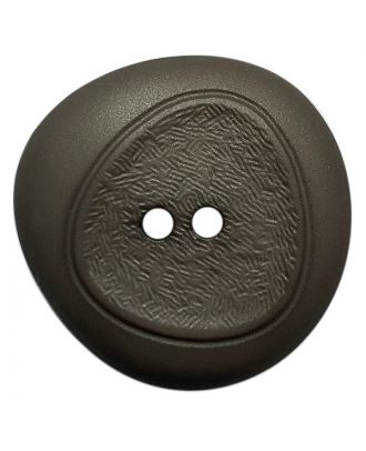 polyamide button with fine structure and 2 holes - Size: 28mm - Color: grau - Art.No.: 378800