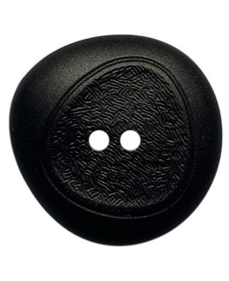 polyamide button with fine structure and 2 holes - Size: 23mm - Color: schwarz - Art.No.: 341397