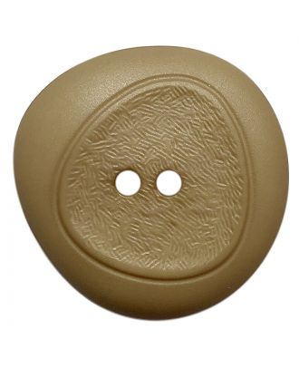polyamide button with fine structure and 2 holes - Size: 28mm - Color: beige - Art.No.: 378801
