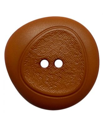 polyamide button with fine structure and 2 holes - Size: 18mm - Color: braun - Art.No.: 318822