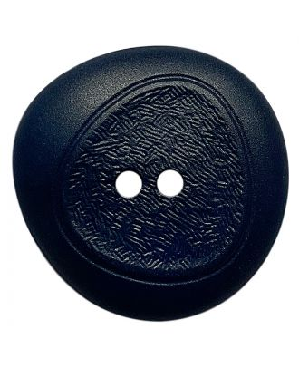 polyamide button with fine structure and 2 holes - Size: 28mm - Color: dunkelblau - Art.No.: 378803