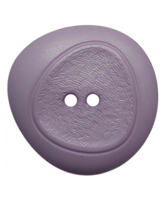polyamide button with fine structure and 2 holes - Size: 28mm - Color: flieder - Art.No.: 378804