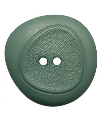 polyamide button with fine structure and 2 holes - Size: 28mm - Color: grün - Art.No.: 378805