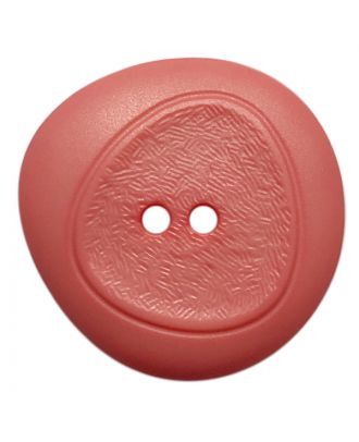 polyamide button with fine structure and 2 holes - Size: 28mm - Color: pink - Art.No.: 378807