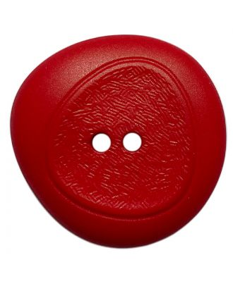 polyamide button with fine structure and 2 holes - Size: 18mm - Color: rot - Art.No.: 318828