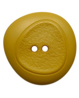polyamide button with fine structure and 2 holes - Size: 28mm - Color: gelb - Art.No.: 378809