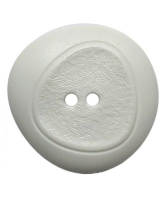 polyamide button with fine structure and 2 holes - Size: 23mm - Color: weiß - Art.No.: 341396