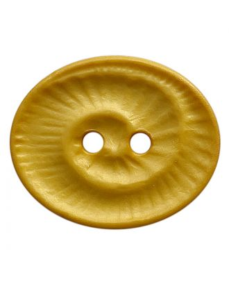 polyamide button oval-shaped with 2 holes - Size: 23mm - Color: gelb - Art.No.: 348828