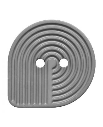 polyamide button oval-shaped with 2 holes - Size: 32mm - Color: grau - Art.No.: 382007