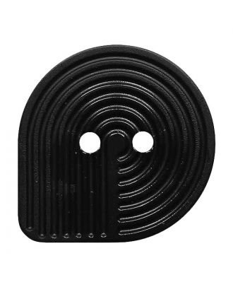 polyamide button oval-shaped with 2 holes - Size: 32mm - Color: schwarz - Art.No.: 380426