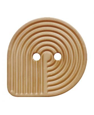 polyamide button oval-shaped with 2 holes - Size: 32mm - Color: beige - Art.No.: 382008