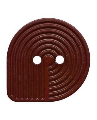 polyamide button oval-shaped with 2 holes - Size: 32mm - Color: braun - Art.No.: 382009