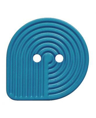 polyamide button oval-shaped with 2 holes - Size: 32mm - Color: blau - Art.No.: 382010