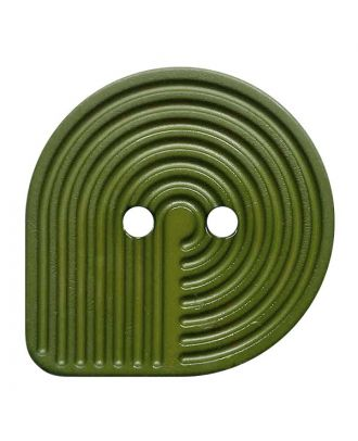 polyamide button oval-shaped with 2 holes - Size: 32mm - Color: khaki - Art.No.: 382012