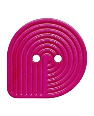 polyamide button oval-shaped with 2 holes - Size: 32mm - Color: pink - Art.No.: 382014
