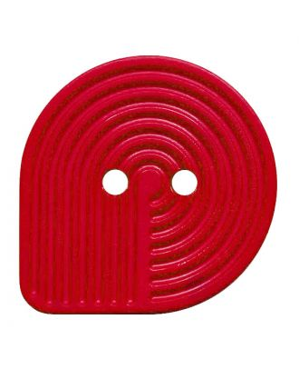 polyamide button oval-shaped with 2 holes - Size: 20mm - Color: rot - Art.No.: 312009
