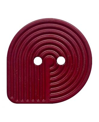 polyamide button oval-shaped with 2 holes - Size: 32mm - Color: weinrot - Art.No.: 382016