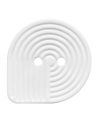 polyamide button oval-shaped with 2 holes - Size: 32mm - Color: weiß - Art.No.: 380425