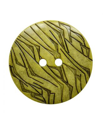 polyamide button round shape with black lacquer and 2 holes - Size: 18mm - Color: gelb - Art.No.: 312031