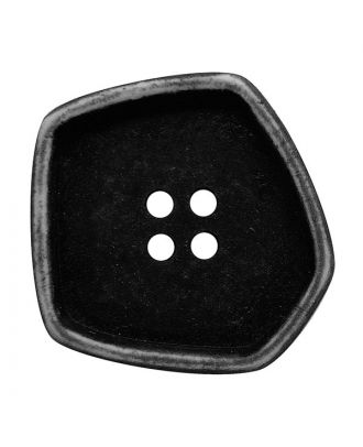 """polyamide button square-shaped """"vintage look"""" with 4 holes - Size: 20mm - Color: schwarz - Art.No.: 331247"""