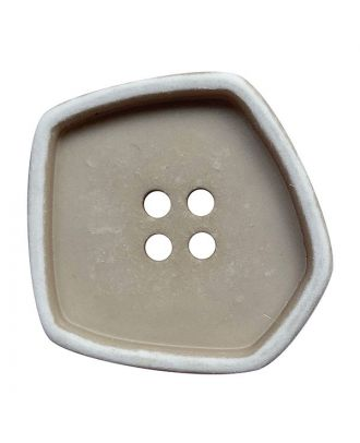 """polyamide button square-shaped """"vintage look"""" with 4 holes - Size: 20mm - Color: beige - Art.No.: 332005"""
