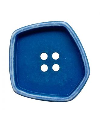 """polyamide button square-shaped """"vintage look"""" with 4 holes - Size: 20mm - Color: blau - Art.No.: 332007"""