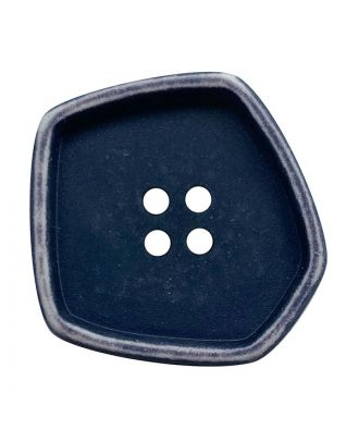 """polyamide button square-shaped """"vintage look"""" with 4 holes - Size: 20mm - Color: dunkelblau - Art.No.: 332008"""