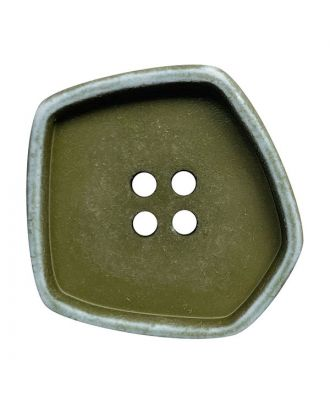 """polyamide button square-shaped """"vintage look"""" with 4 holes - Size: 20mm - Color: khaki - Art.No.: 332010"""