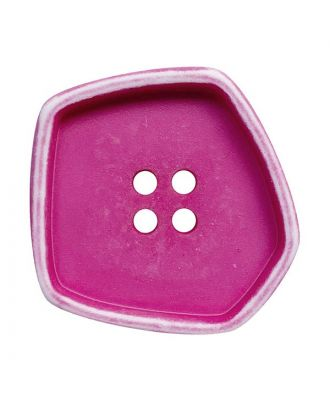 """polyamide button square-shaped """"vintage look"""" with 4 holes - Size: 30mm - Color: pink - Art.No.: 392008"""