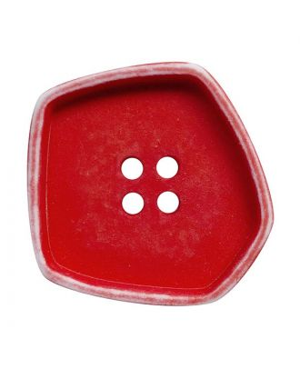 """polyamide button square-shaped """"vintage look"""" with 4 holes - Size: 20mm - Color: rot - Art.No.: 332014"""
