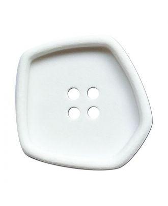"""polyamide button square-shaped """"vintage look"""" with 4 holes - Size: 20mm - Color: weiß - Art.No.: 331246"""
