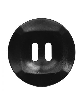 polyamide button round shape marbled with 2 holes - Size: 20mm - Color: schwarz - Art.No.: 331249