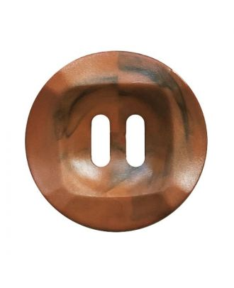 polyamide button round shape marbled with 2 holes - Size: 20mm - Color: braun - Art.No.: 332017