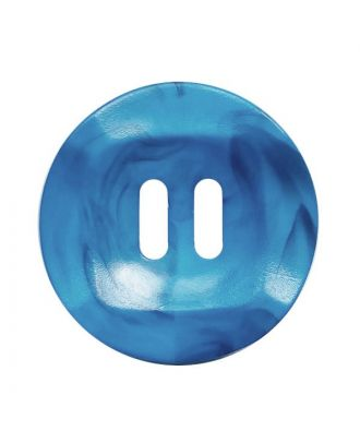 polyamide button round shape marbled with 2 holes - Size: 20mm - Color: blau - Art.No.: 332018
