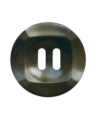 polyamide button round shape marbled with 2 holes - Size: 25mm - Color: khaki - Art.No.: 372026