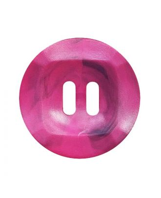 polyamide button round shape marbled with 2 holes - Size: 20mm - Color: pink - Art.No.: 332022