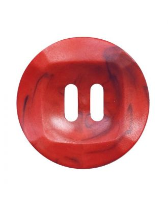 polyamide button round shape marbled with 2 holes - Size: 20mm - Color: rot - Art.No.: 332023