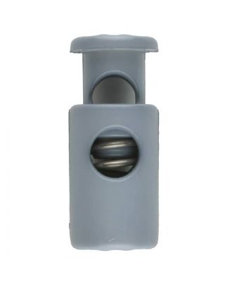 cord stopper with spring - Size: 23mm - Color: grey - Art.No. 261252