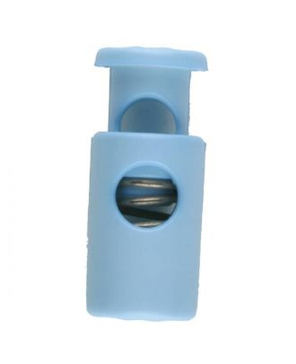 cord stopper with spring - Size: 23mm - Color: blue - Art.No. 261254